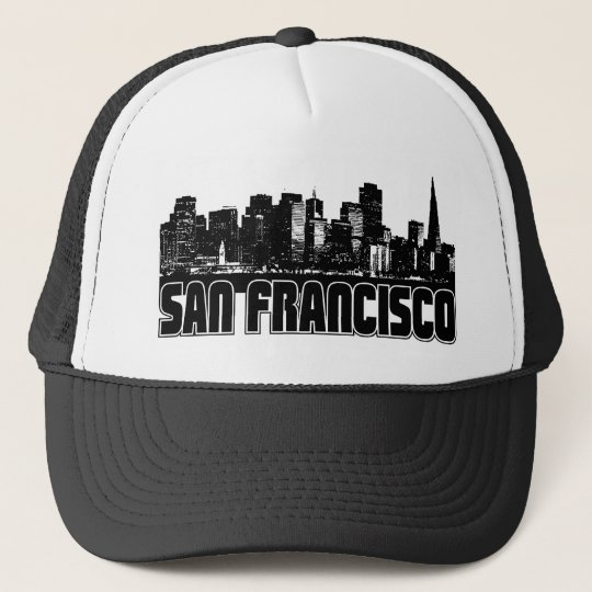 San Francisco Skyline Trucker Hat