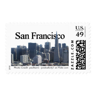 San Francisco Skyline w/ San Francisco in the Sky Postage