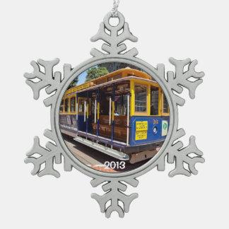 San Francisco Snowflake Snowflake Pewter Christmas Ornament