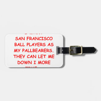 san francisco sports tag for luggage