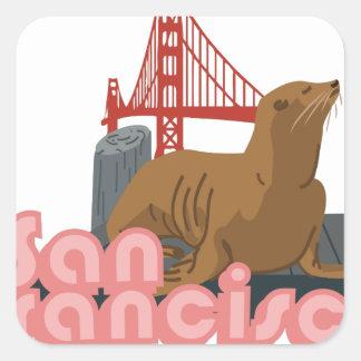 San Francisco Square Sticker