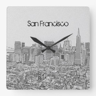 San Francisco Square Wall Clock