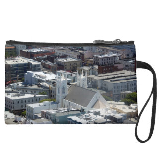 San Francisco St Francis of Assisi Church Suede Wristlet