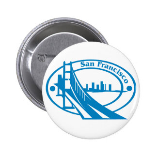 San Francisco Stamp Pinback Buttons