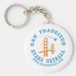 San Francisco Stars Netball Club Keychain