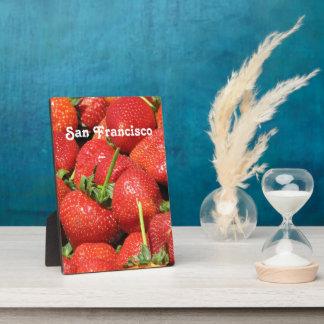 San Francisco Strawberries Photo Plaque