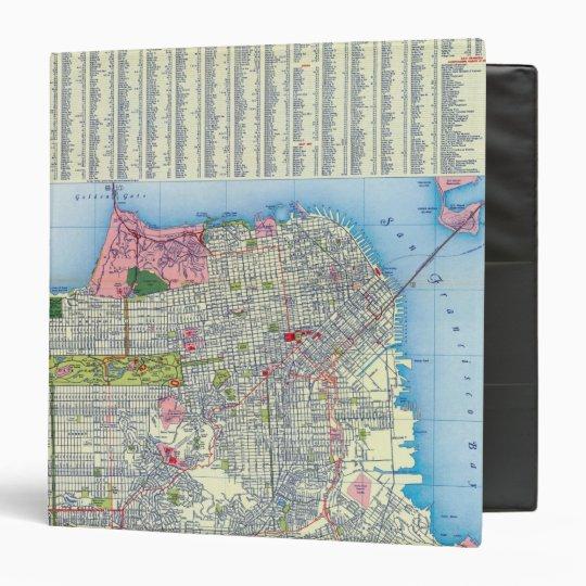 San Francisco Street Map 3 Ring Binder