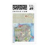 San Francisco Street Map Postage Stamps