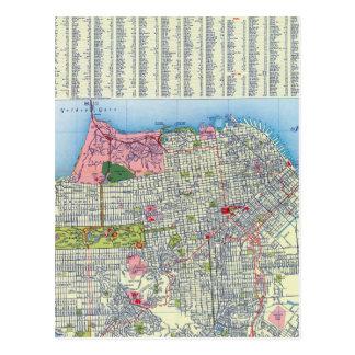 San Francisco Street Map Postcard