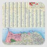 San Francisco Street Map Square Sticker