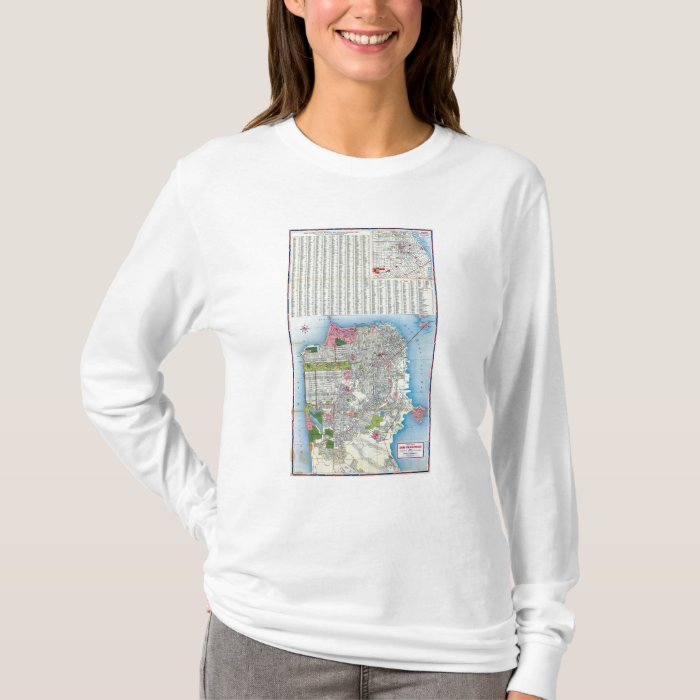 San Francisco Street Map T-Shirt
