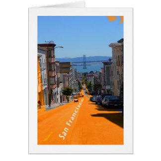 San Francisco, Street View of Bay Bridge Card