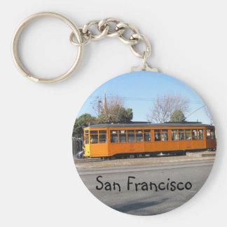 San Francisco Streetcar Basic Round Button Keychain