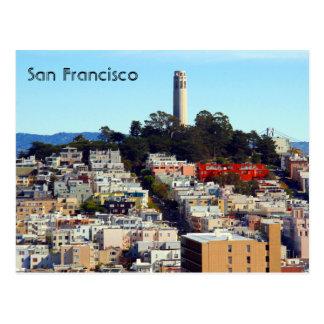 san francisco streets postcard