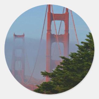 San Francisco Sunny Day Classic Round Sticker