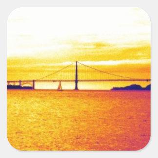 San Francisco Sunset Square Sticker