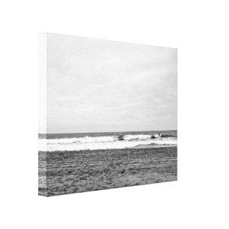 San Francisco Surfer at Ocean Beach, Canvas Print