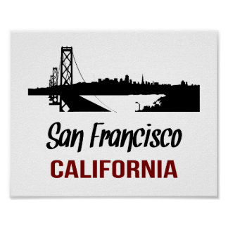 San Francisco (tamaño estándar del marco) Póster