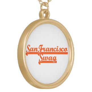 San Francisco Team Swag Personalized Necklace