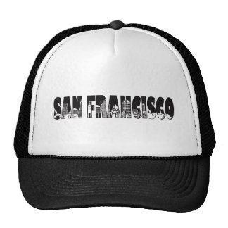 San Francisco Text Outline Illustration Trucker Hat