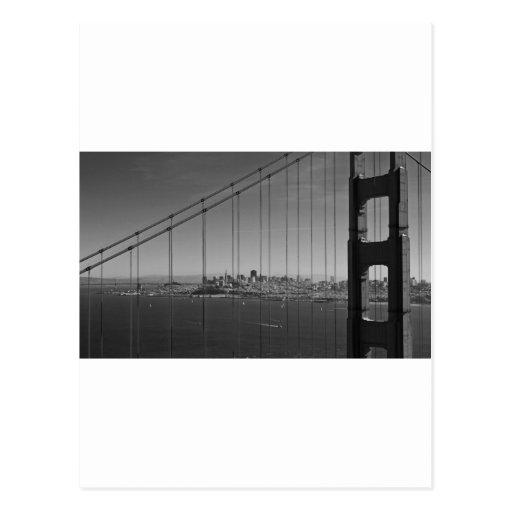 San Francisco through Golden gate Bridge Postcard