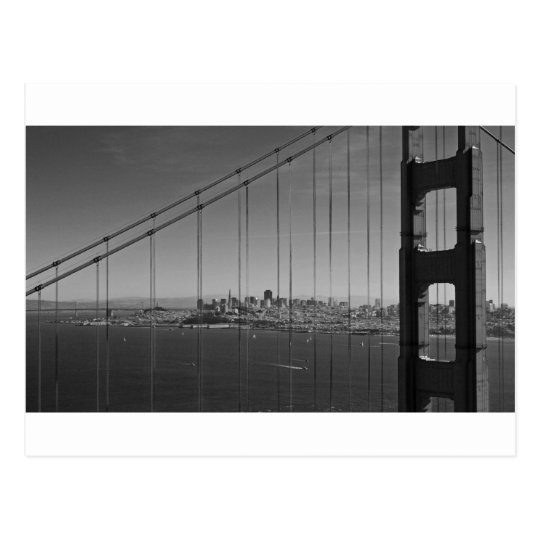 San Francisco through Golden gate Bridge Postcard