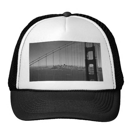 San Francisco through Golden gate Bridge Trucker Hat