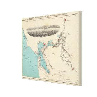 San Francisco to Sacramento Canvas Print
