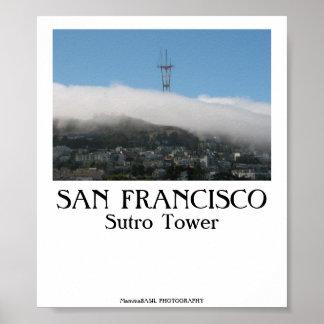 San Francisco - torre de Sutro Póster
