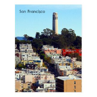 san francisco tower postcard