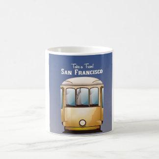 San Francisco tram vintage travel poster Coffee Mug