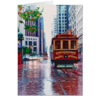 San Francisco Trolley Car by Shawna Mac Card
