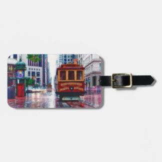 San Francisco Trolley Car by Shawna Mac Luggage Tag