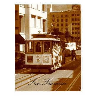 san francisco trolley car postcard