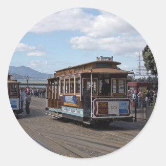 San Francisco Trolley Cars Classic Round Sticker