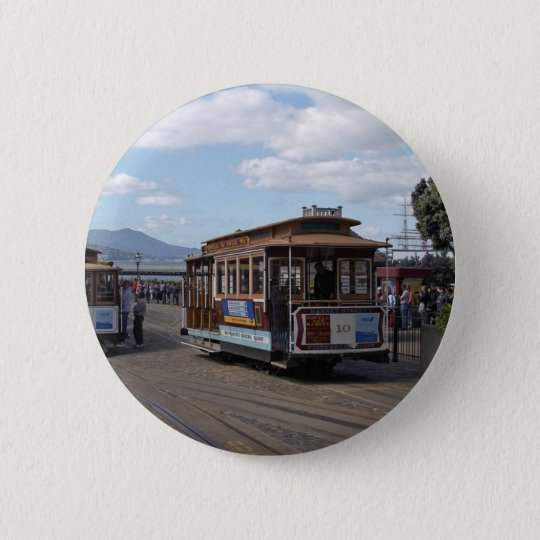 San Francisco Trolley Cars Pinback Button