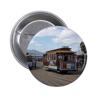 San Francisco Trolley Cars Pinback Button