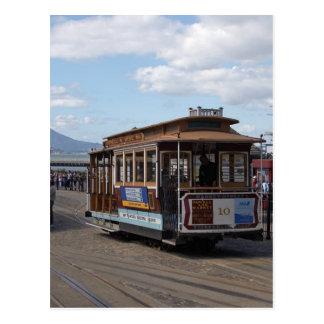 San Francisco Trolley Cars Postcard