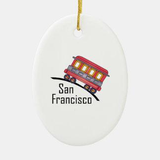 san francisco trolley ceramic ornament