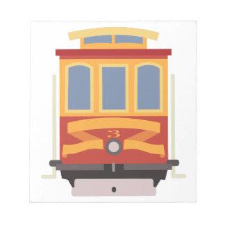 San Francisco Trolley Notepad