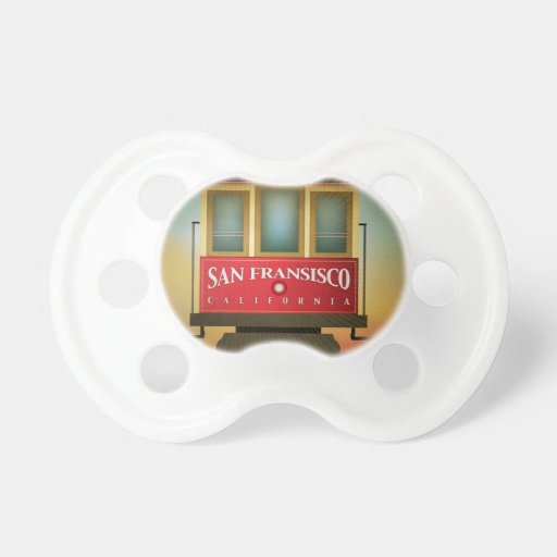 San Francisco Trolley Baby Pacifier
