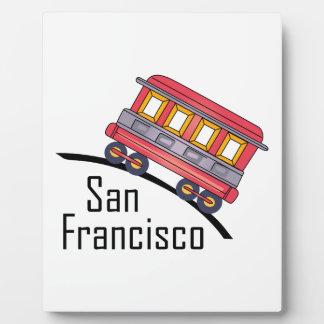 san francisco trolley photo plaques