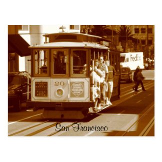 san francisco trolley postcard