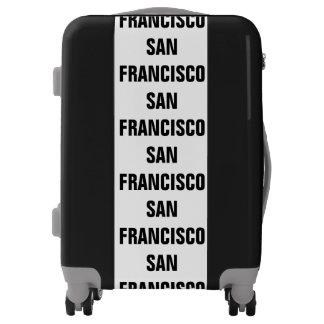 SAN FRANCISCO, Typo black Luggage