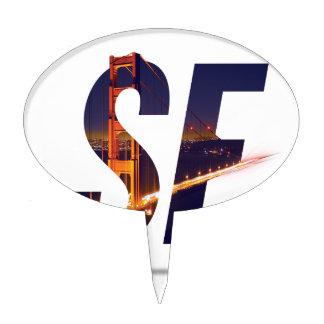 San Francisco Typography Cake Topper