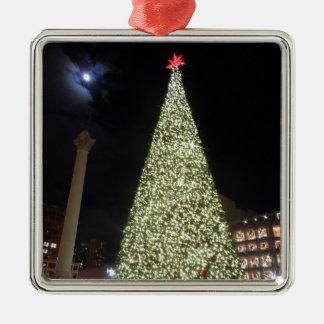 San Francisco Union Square Christmas Metal Ornament
