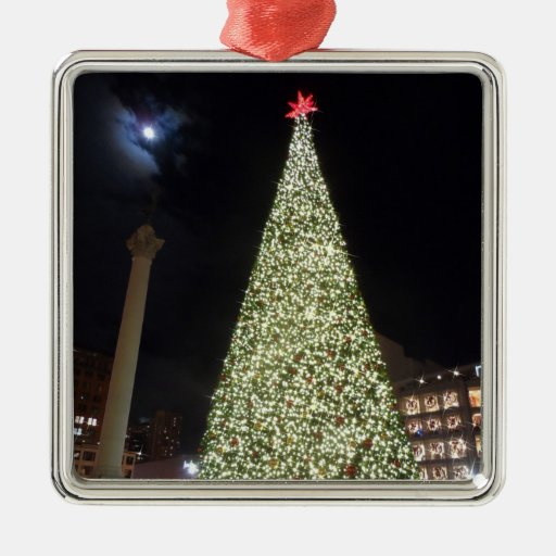 Christmas Decorations In Union Square : San francisco union square christmas metal ornament zazzle