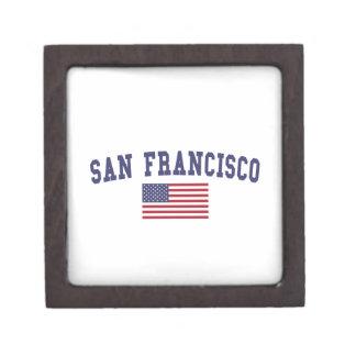 San Francisco US Flag Jewelry Box