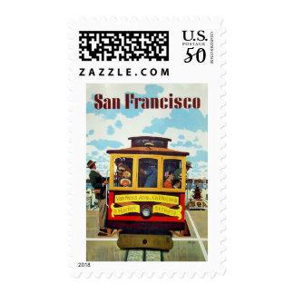San Francisco USA Vintage travel postage stamps
