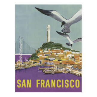 San Francisco USA vintage travel postcard